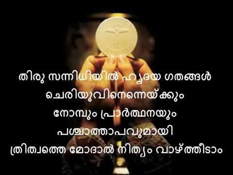 Thaathanumathupol Aathmajanum - Syro Malabar Mass Song Karoake