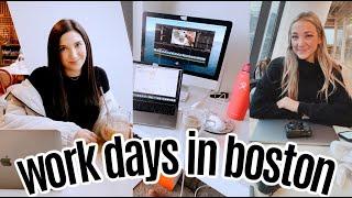 WORK DAYS in my life | boston, MA