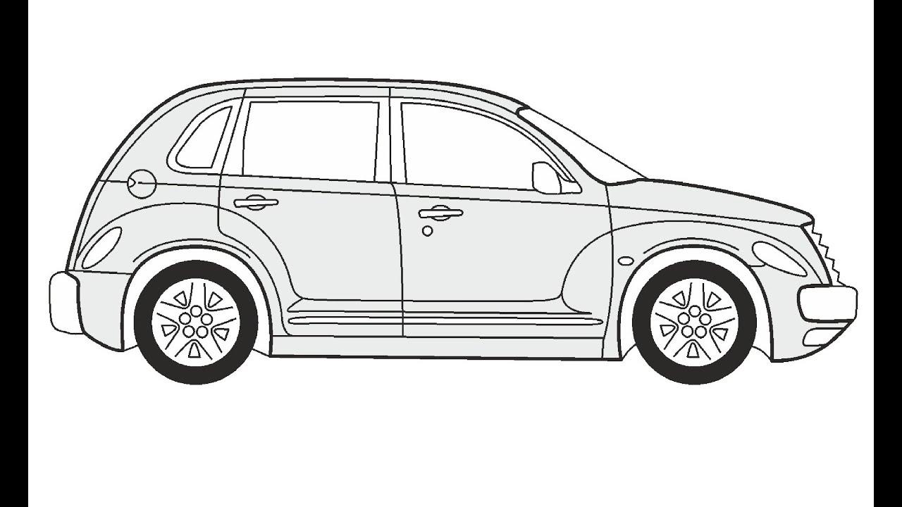 How to Draw a Chrysler PT Cruiser / Как нарисовать