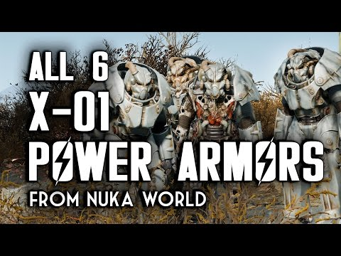 Find All Six X-01 Power Armors In Nuka World - Fallout 4 DLC