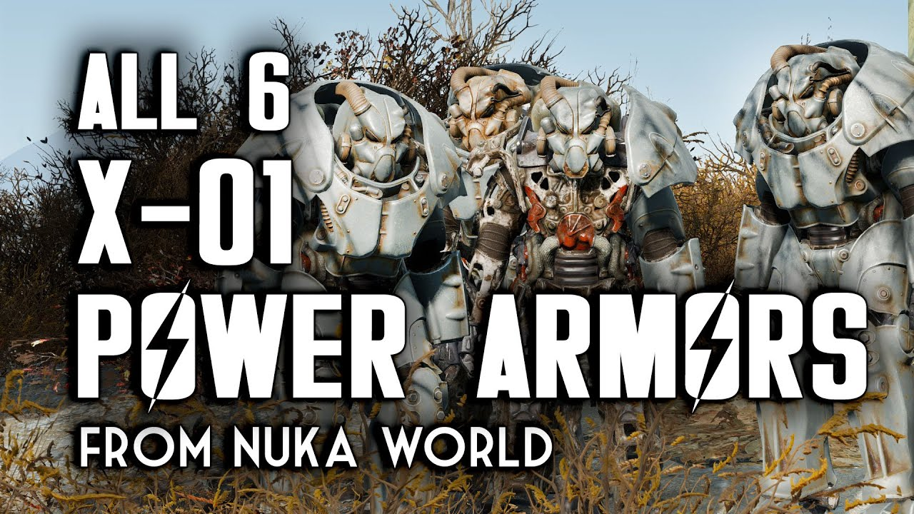 Find All Six X 01 Power Armors In Nuka World Fallout 4 Dlc Youtube