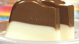 Resep cara membuat puding coklat susu lezat (how to make a delicious milk chocolate pudding)