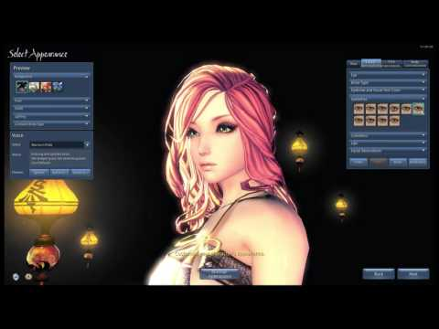 pinkachu plays blade and soul tech alpha yun character creation
