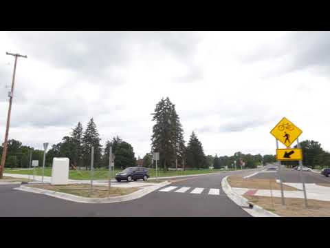 Driving New Kibby Road Roundabout In Jackson, Michigan