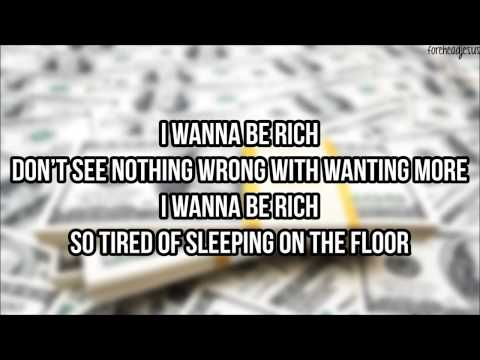 Kirko Bangz - Rich ft. August Alsina (LYRICS ON SCREEN)