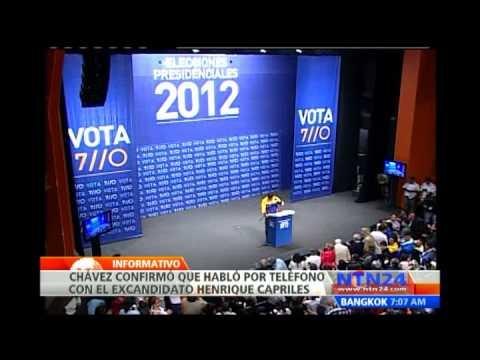 Hugo Chávez y Henrique Capriles confirman haber hablado tras las elecciones