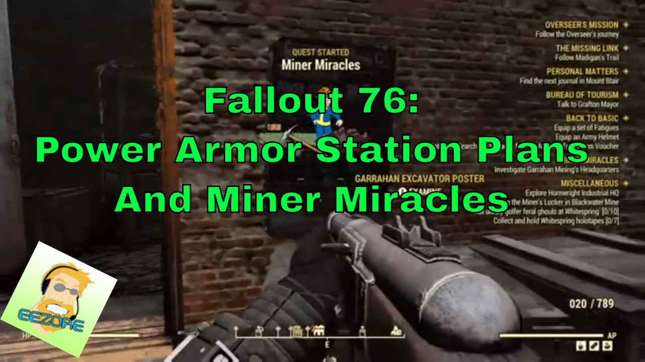 Fallout 76: Miner Miracles start and finish, and plans for power armor  station