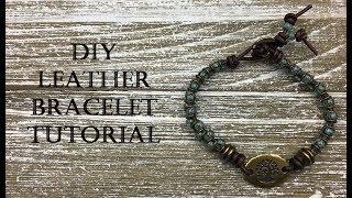 DIY Tutorial - How to Make the Vertebrae Redux Leather Bracelet