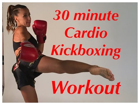 30 minute Cardio Kickboxing total body workout