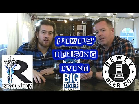 Brewers' Uprising Event - Revelation Craft Brewing, Big Oyster Brewery & Dewey Beer Company
