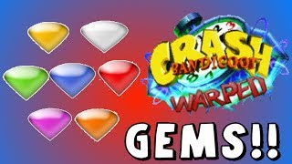 Crash Bandicoot: Coloured Gem e Gem - Green Gem & Toad Village Gem!!