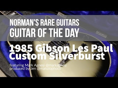 Norman's Rare Guitars - Guitar of the Day: 1985 Gibson Les Paul Custom Silverburst