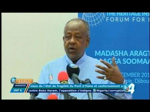 Télé Djibouti Chaine Youtube : JT Somali du 21/12/2017