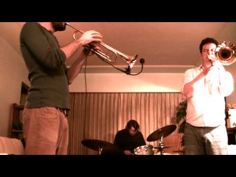 Experimental Free Improvised Avant Garde Jazz Music - TRUMPET TROMBONE DRUMS trio