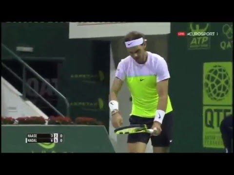 Rafael nadal vs robin haase at qatar open