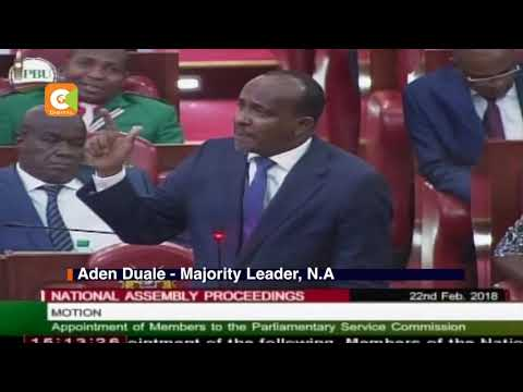 Aden Duale exchange bitterly with John Mbadi over conduct of MPs