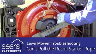 Lawn Mower Won't Start: Can't Pull the Recoil Starter Rope