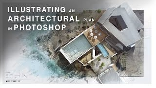 Illustrating an Architectural Plan in Photoshop - Narrated Full Tutorial - Realtime thumbnail