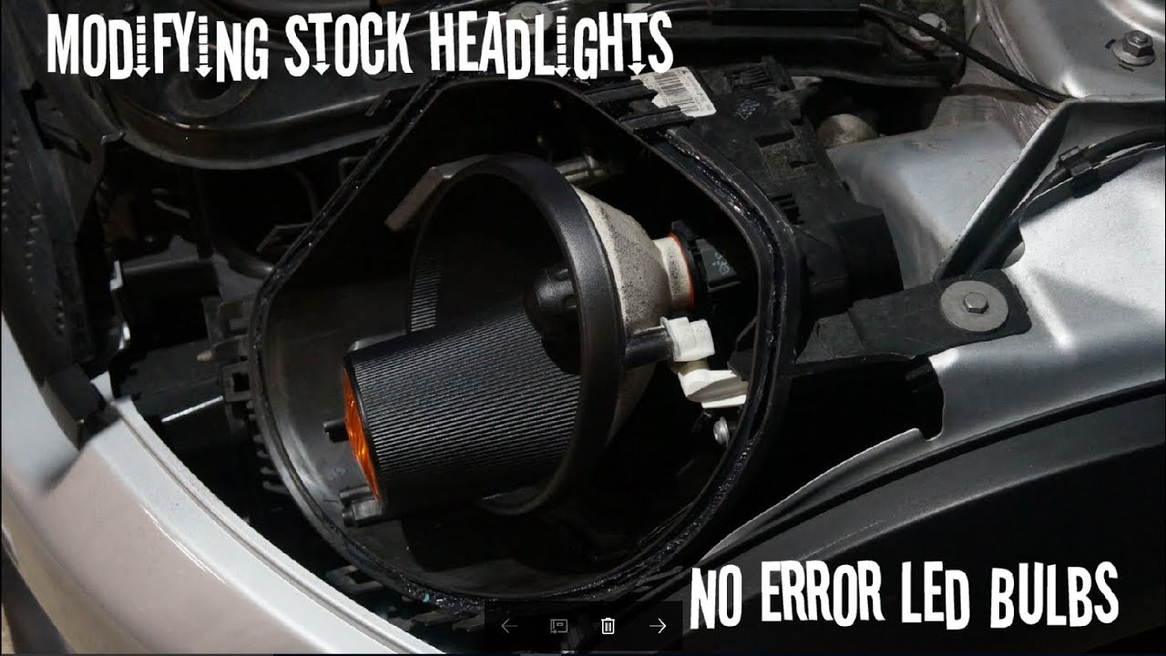 R56 Mini Cooper S -(no error) LED Bulbs & Modified Headlight pt2