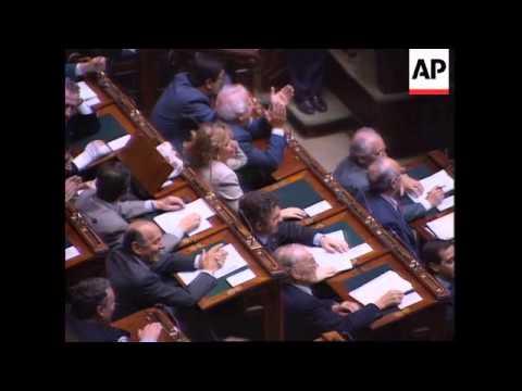 Italy - Berlusconi Hits At Resignation