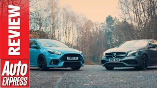Ford Focus RS Mountune vs Mercedes-AMG A 45: huge hyper hot hatch showdown