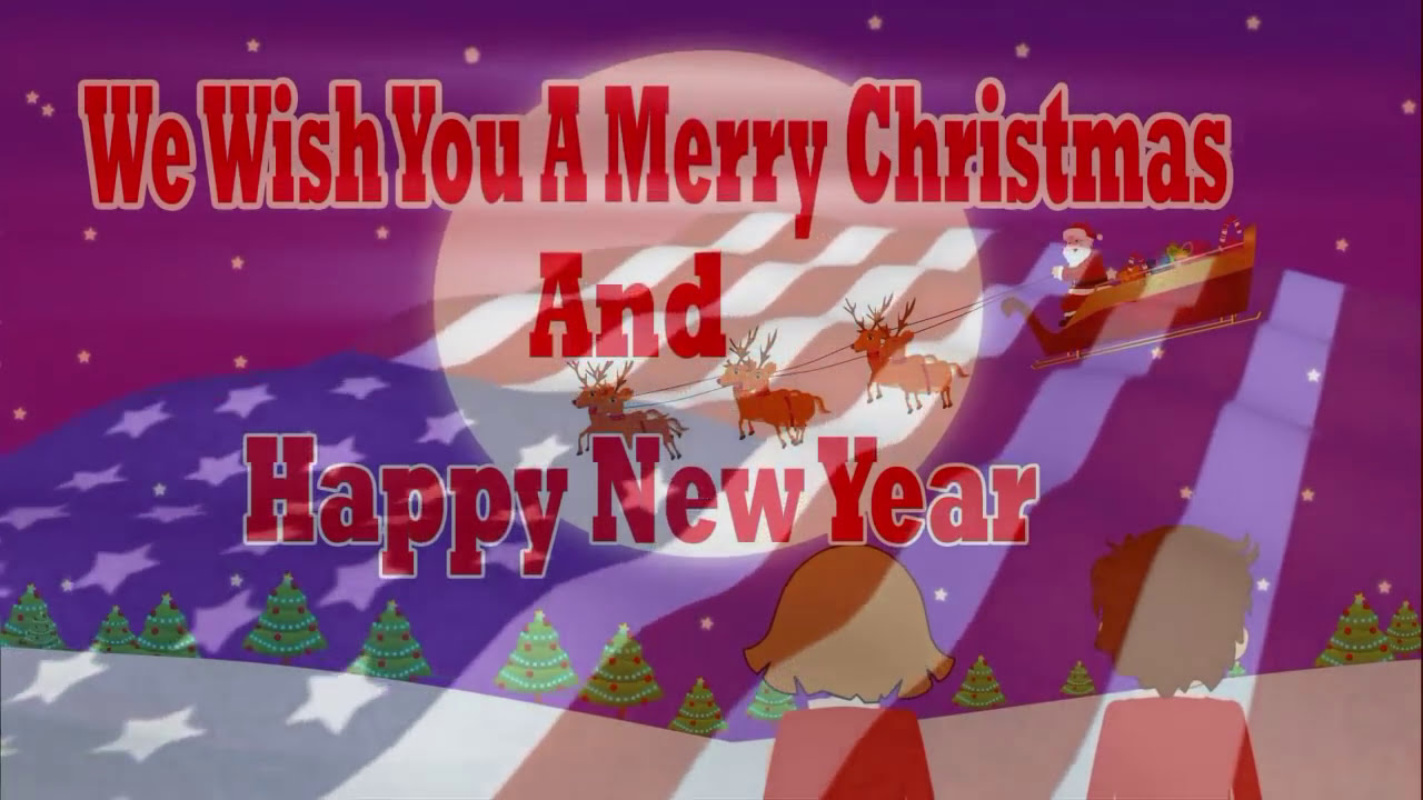 usa happy holidays merry xmas a happy new year 2018