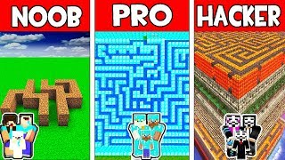 Minecraft - NOOB vs PRO vs HACKER : FAMILY SECRET MAZE in Minecraft Animation