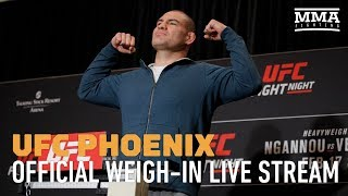 Live Stream: UFC Phoenix Official Weigh-Ins - MMA Fighting