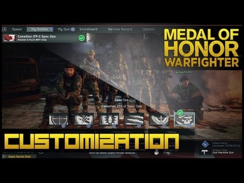 Medal Of Honor: Warfighter - Soldier & Weapon Customization