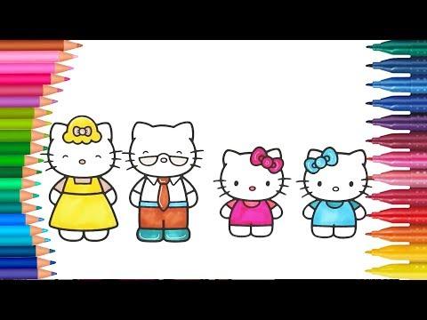 Hello Kitty Kartun Animasi Permainan Mewarnai - Buku mewarnai tangan kecil