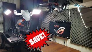 توفير المال على مكتب للايجار | إنشاء خاص يوتيوب ستوديو في غرفة النوم | غرفة جولة