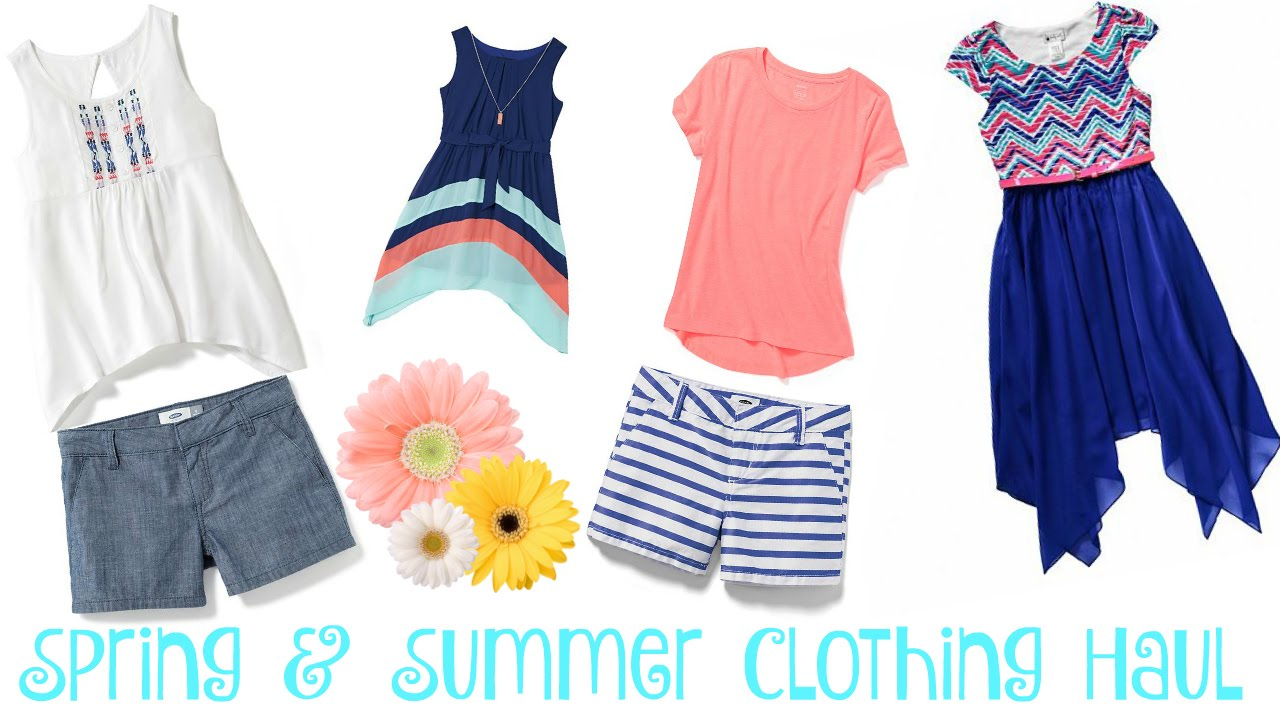Spring & Summer Clothing Haul | 12 Year Old Daughter ~ Old Navy ...