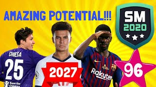 BEST YOUNG PLAYERS FUTURE RATINGS in the year 2027!!! On SM20 Beta | Soccer Manager 2020