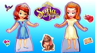 Sofia & Amber Dress-Up Magnetic Dolls Royal Prep Academy Activity set Princesita Muñeca de madera
