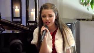 O Holy Night   Hannah Roddy singing for  childhood cancer awareness