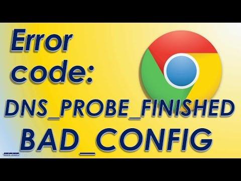 error dns_probe_finished_bad_config solucion