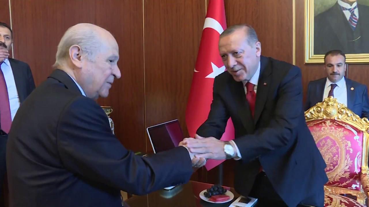 Erdoğan, Yıldırım, Bahçeli ve Akar'dan Meclis'te sürpriz görüşme!