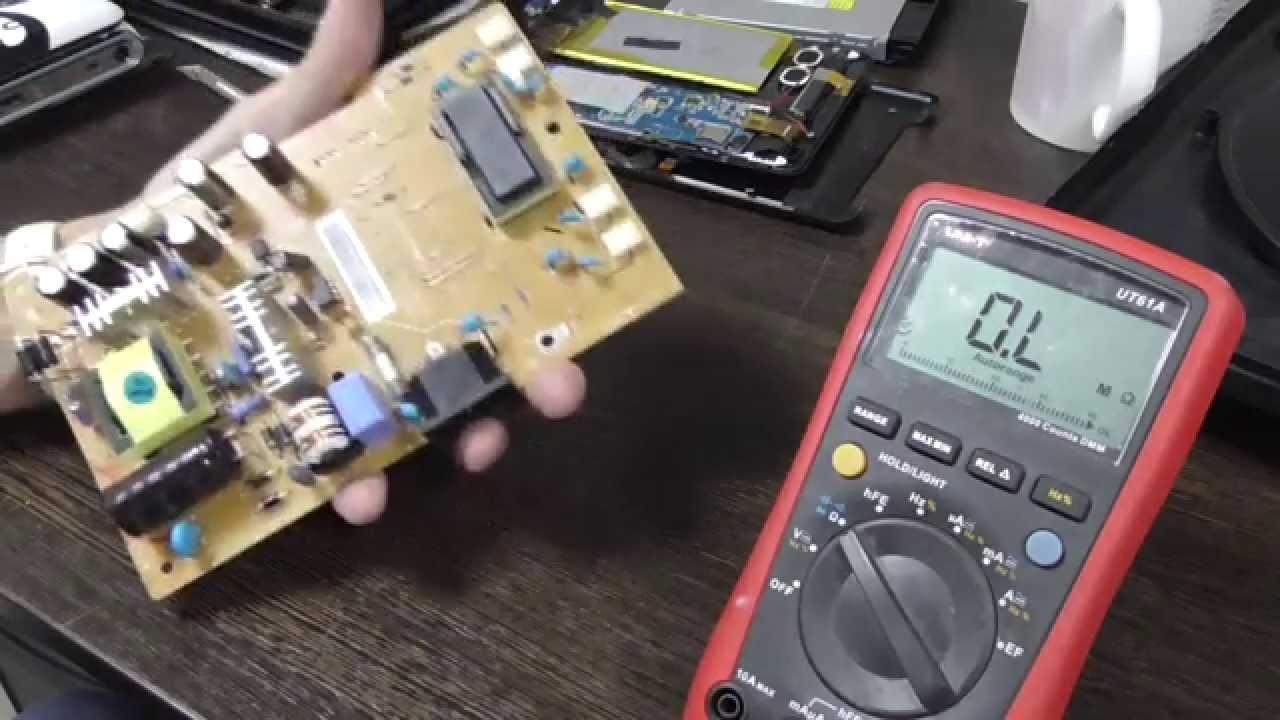 Как проверить трансформатор в инверторе монитора или телевизора .