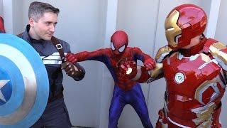 spider man vs captain america vs iron man