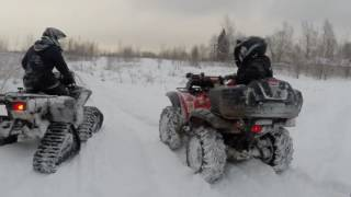 Квадроциклы Yamaha Grizzly 700 CFMOTO X5 H.O. гусеницы(КVADRIKA http://www.kvadrika.ru., 2016-12-05T16:20:30.000Z)