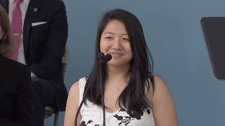 Harvard Female Orator Bessie Zhang | Harvard Commencement 2017 thumbnail