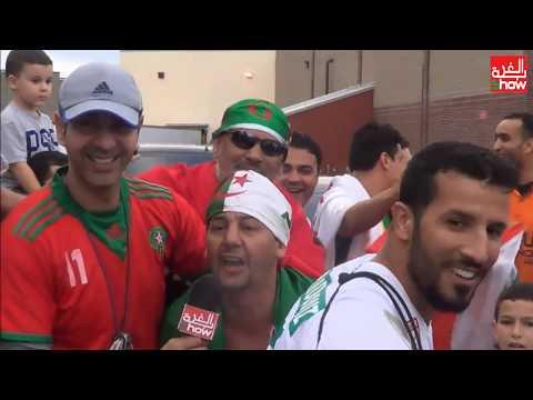 المغاربة يشاركون الجزائريين فرحة التّأهل