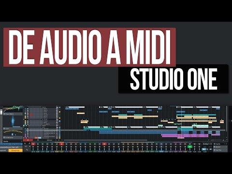 Como convertir #Audio en #MIDI   #Presonus #StudioOne
