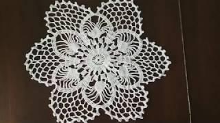Beautiful crocheted napkin /Красивая САЛФЕТКА крючком+ схема
