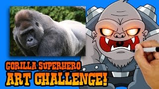 ART CHALLENGE!!! How to Create a Superhero from a Gorilla