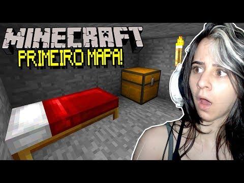 REAGINDO AO PRIMEIRO MAPA DE MINECRAFT!