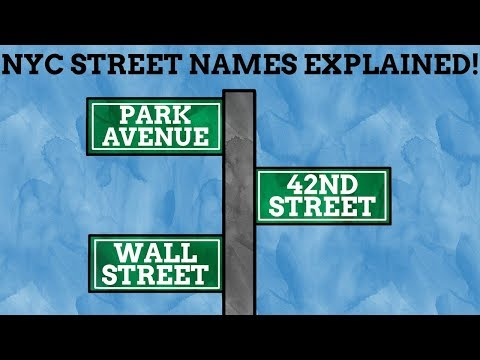 How Did The Streets Of New York Get Their Names?