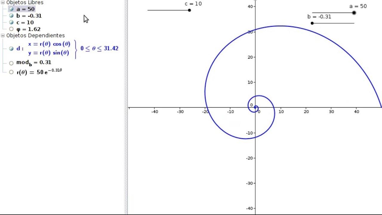 Hacer Plano Online Curvas Polares X Espiral Dorada 193 Urea Youtube