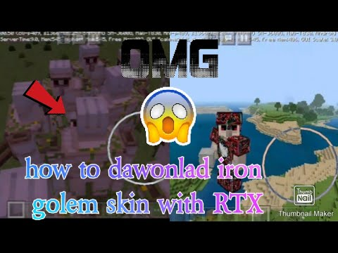 Download How to dawonlad iron golem skin with rtx link in the description dawonlad now