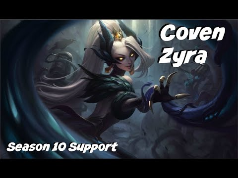 League of Legends: Coven Zyra Support Gameplay